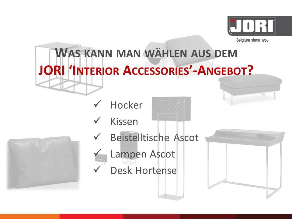 Was kann man wählen aus dem JORI 'Interior Accessories'-Angebot