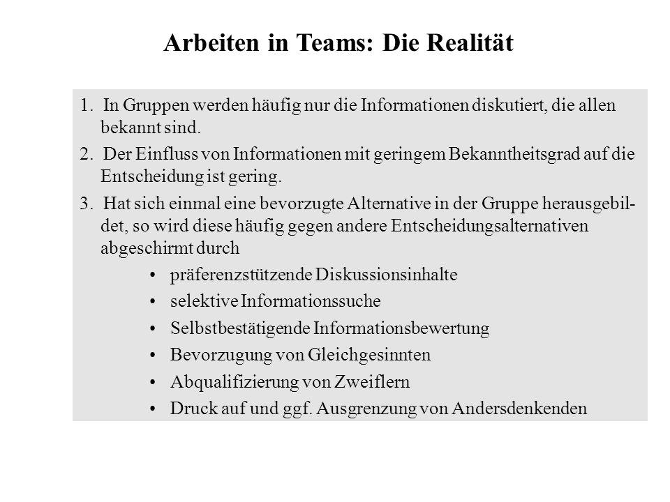 Arbeiten in Teams: Die Realität