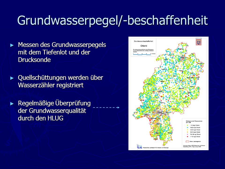 Grundwasserpegel/-beschaffenheit