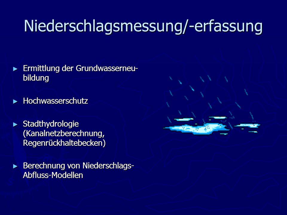 Niederschlagsmessung/-erfassung