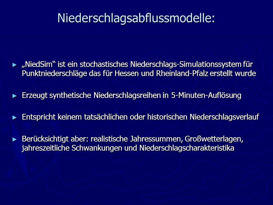 Niederschlagsabflussmodelle: