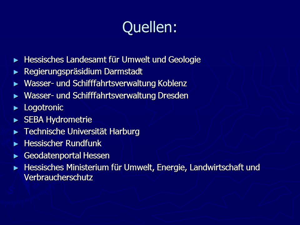 Quellen: Hessisches Landesamt für Umwelt und Geologie
