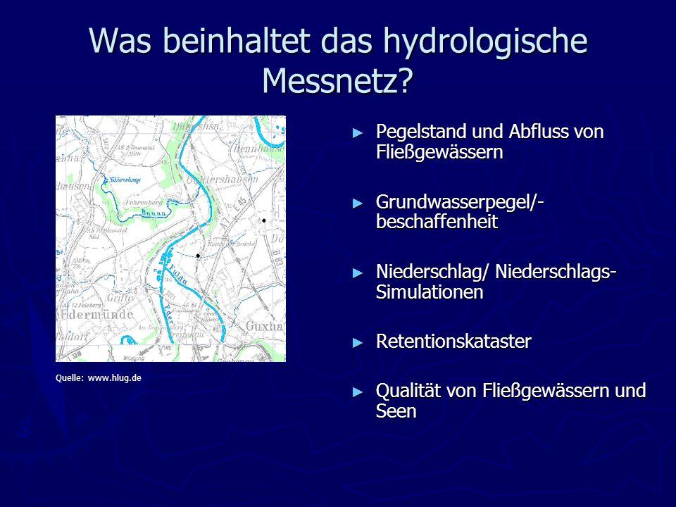 Was beinhaltet das hydrologische Messnetz