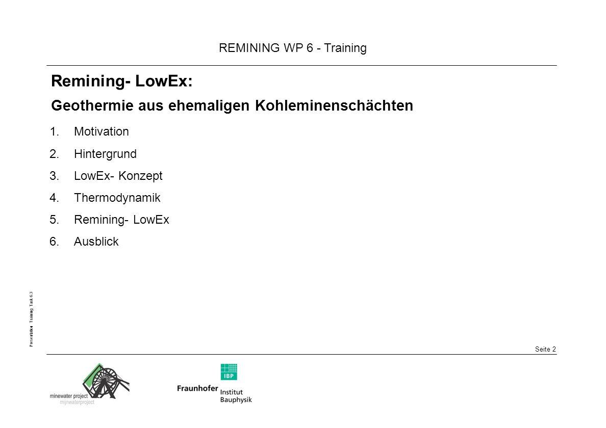 Remining- LowEx: Geothermie aus ehemaligen Kohleminenschächten