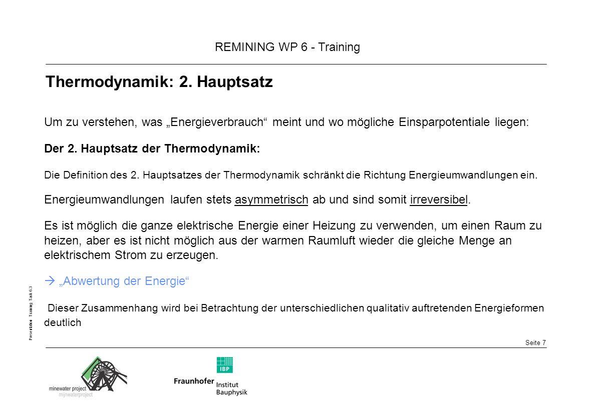 Thermodynamik: 2. Hauptsatz