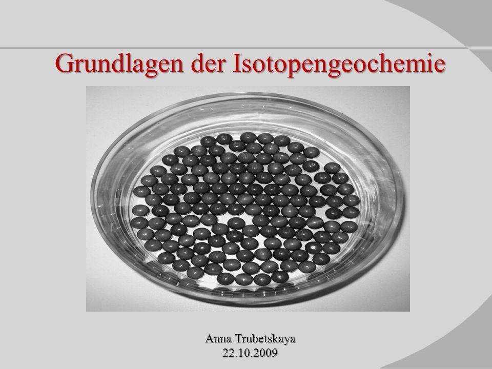 Grundlagen der Isotopengeochemie