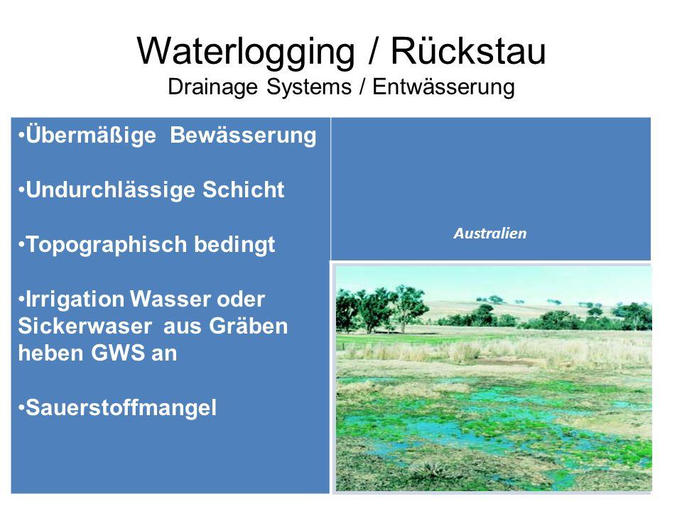 Waterlogging / Rückstau Drainage Systems / Entwässerung