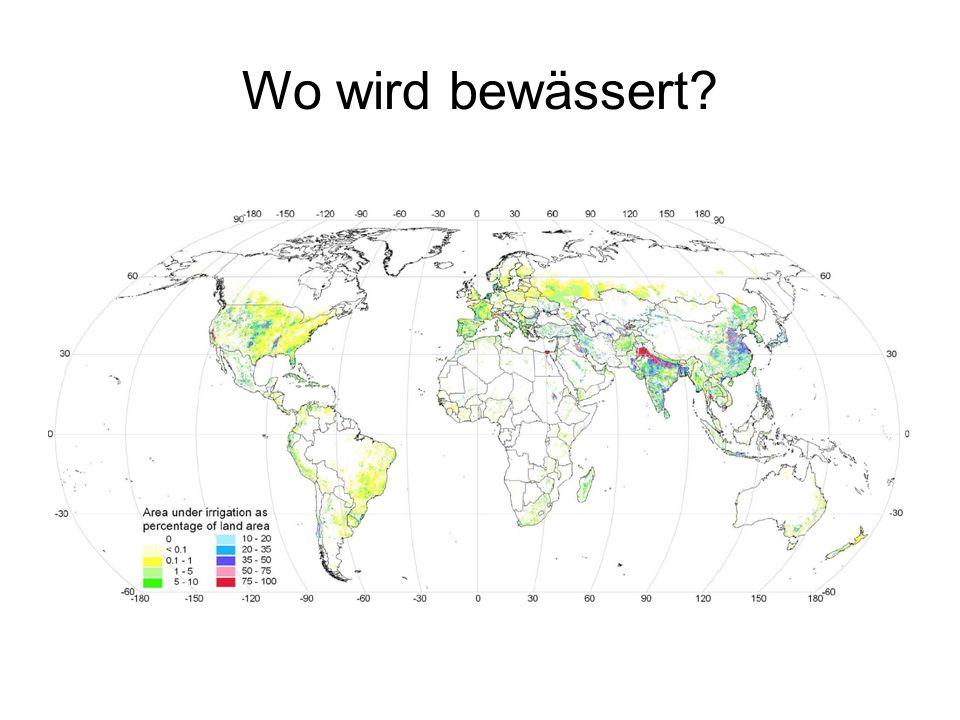 Wo wird bewässert