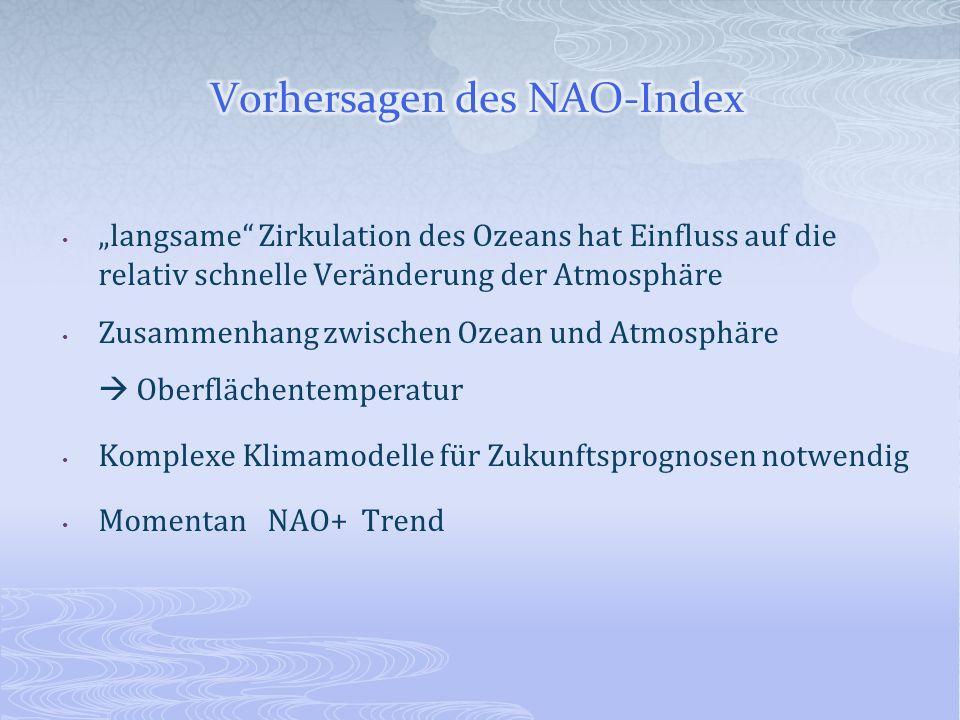 Vorhersagen des NAO-Index
