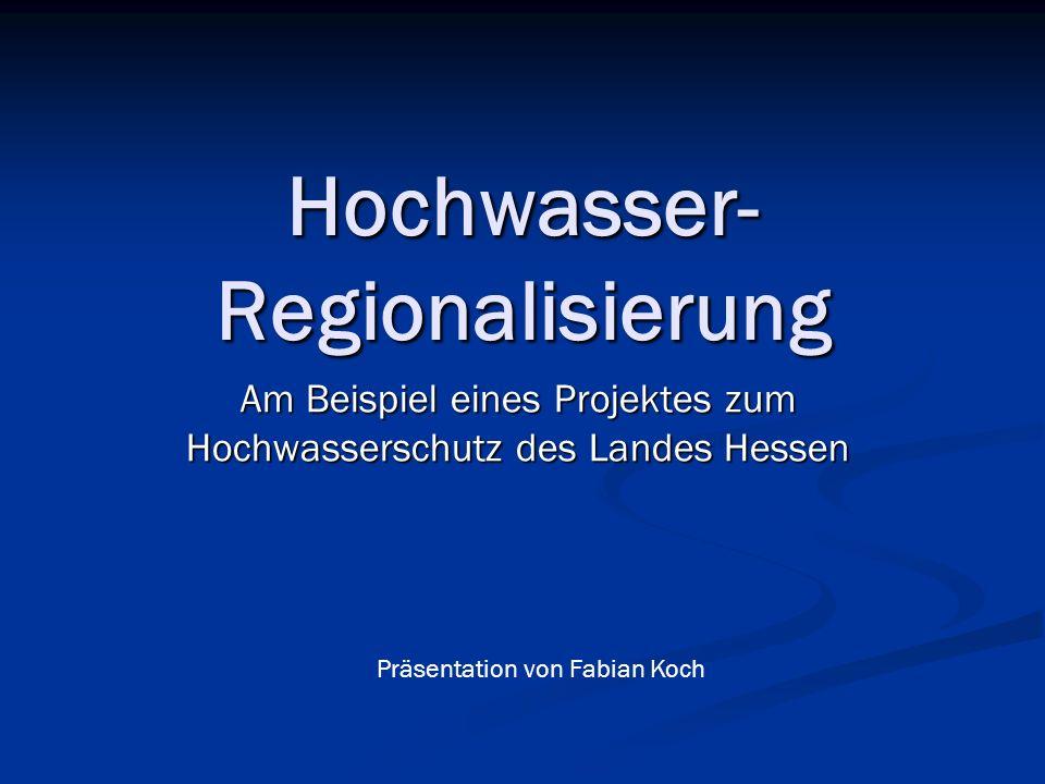 Hochwasser-Regionalisierung