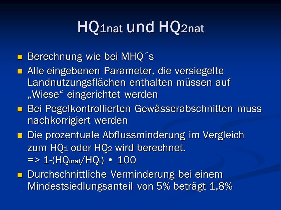 HQ1nat und HQ2nat Berechnung wie bei MHQ´s