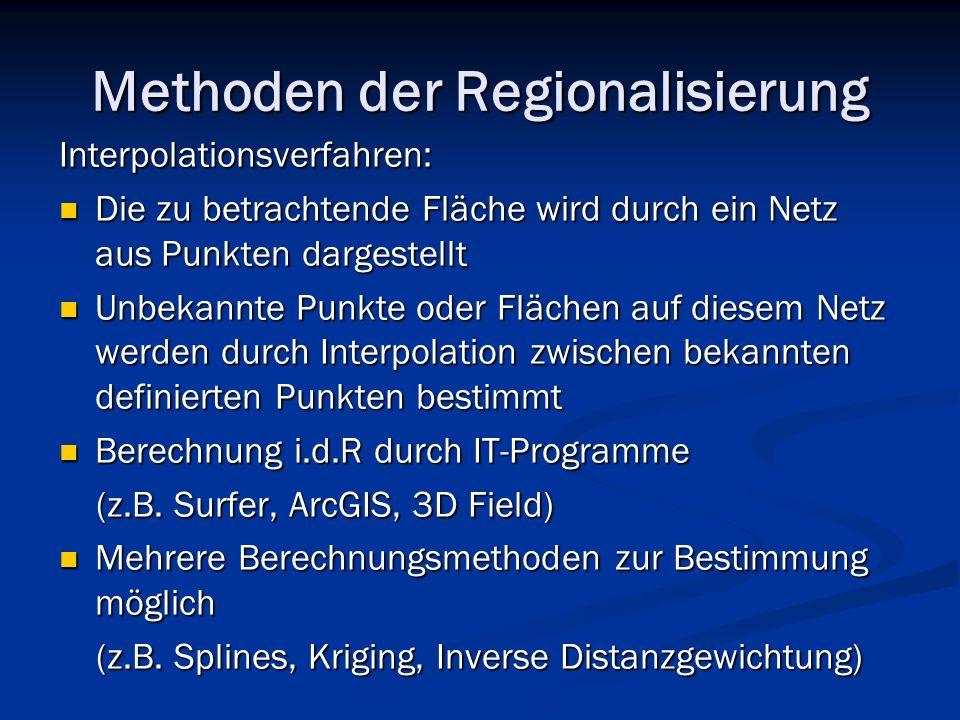 Methoden der Regionalisierung