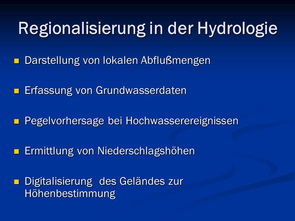 Regionalisierung in der Hydrologie
