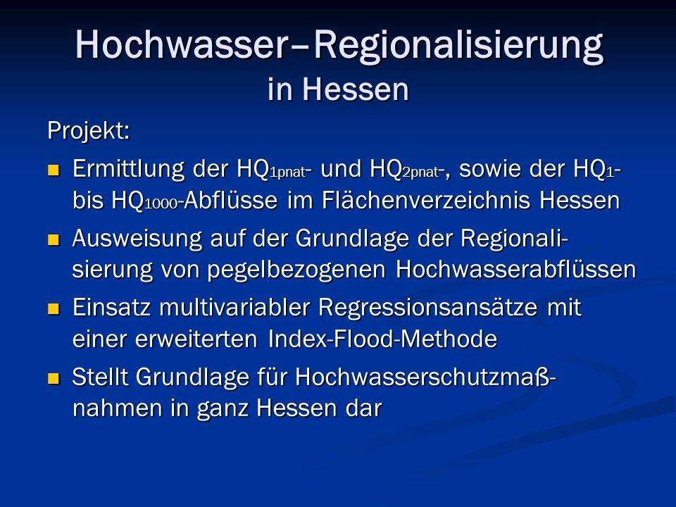 Hochwasser–Regionalisierung in Hessen