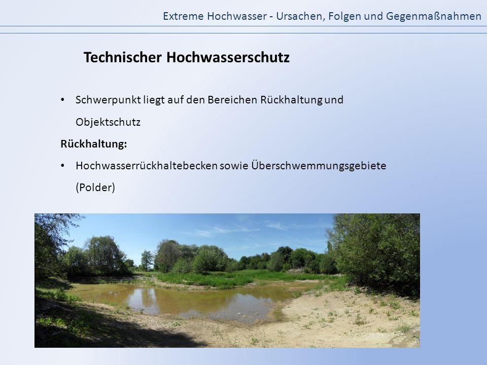 Technischer Hochwasserschutz