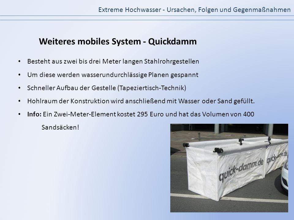 Weiteres mobiles System - Quickdamm