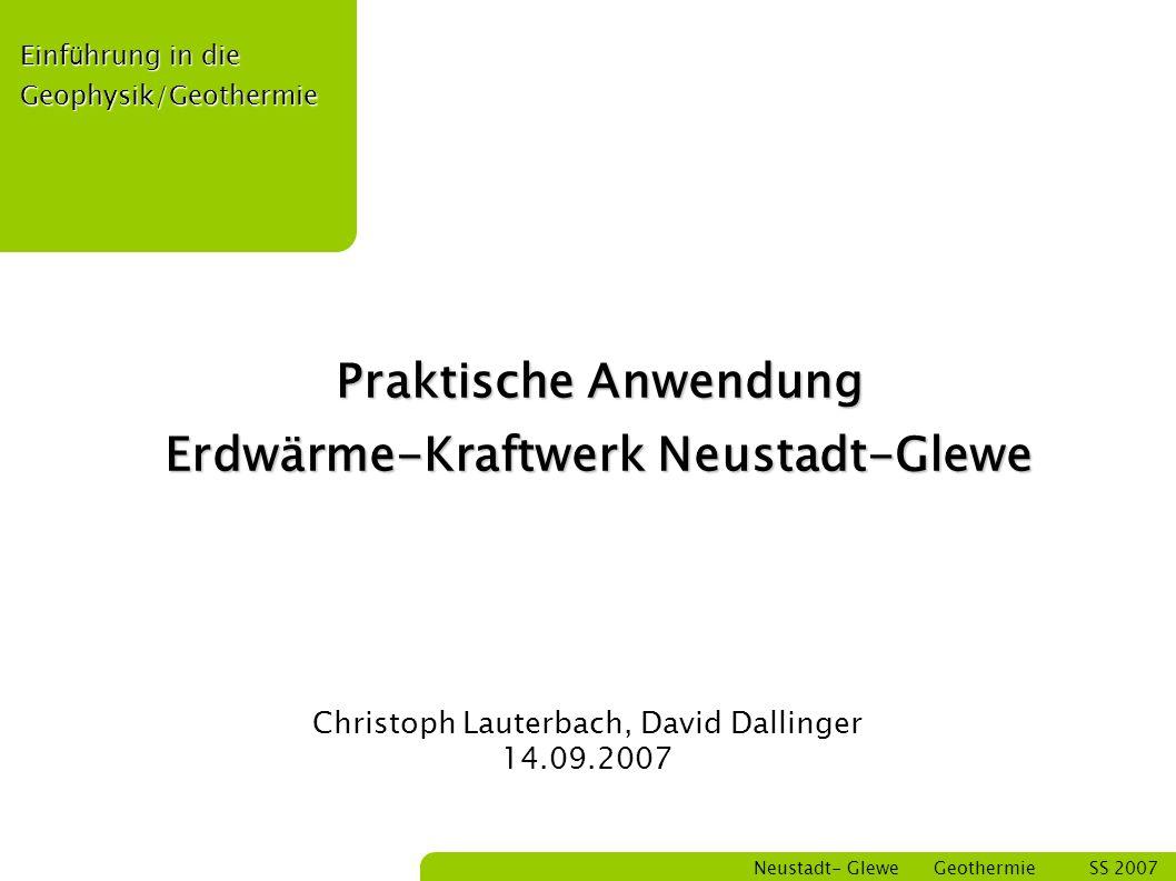 Erdwärme-Kraftwerk Neustadt-Glewe