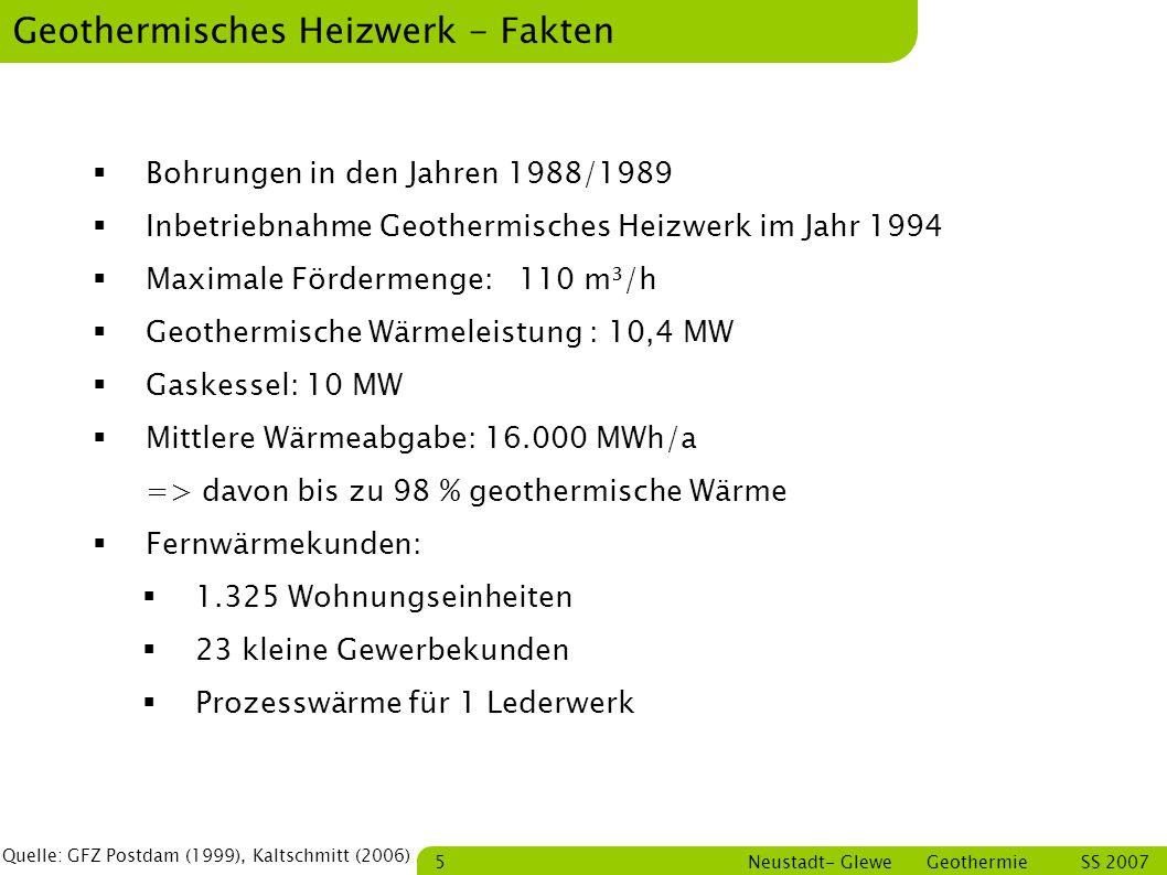Geothermisches Heizwerk - Fakten