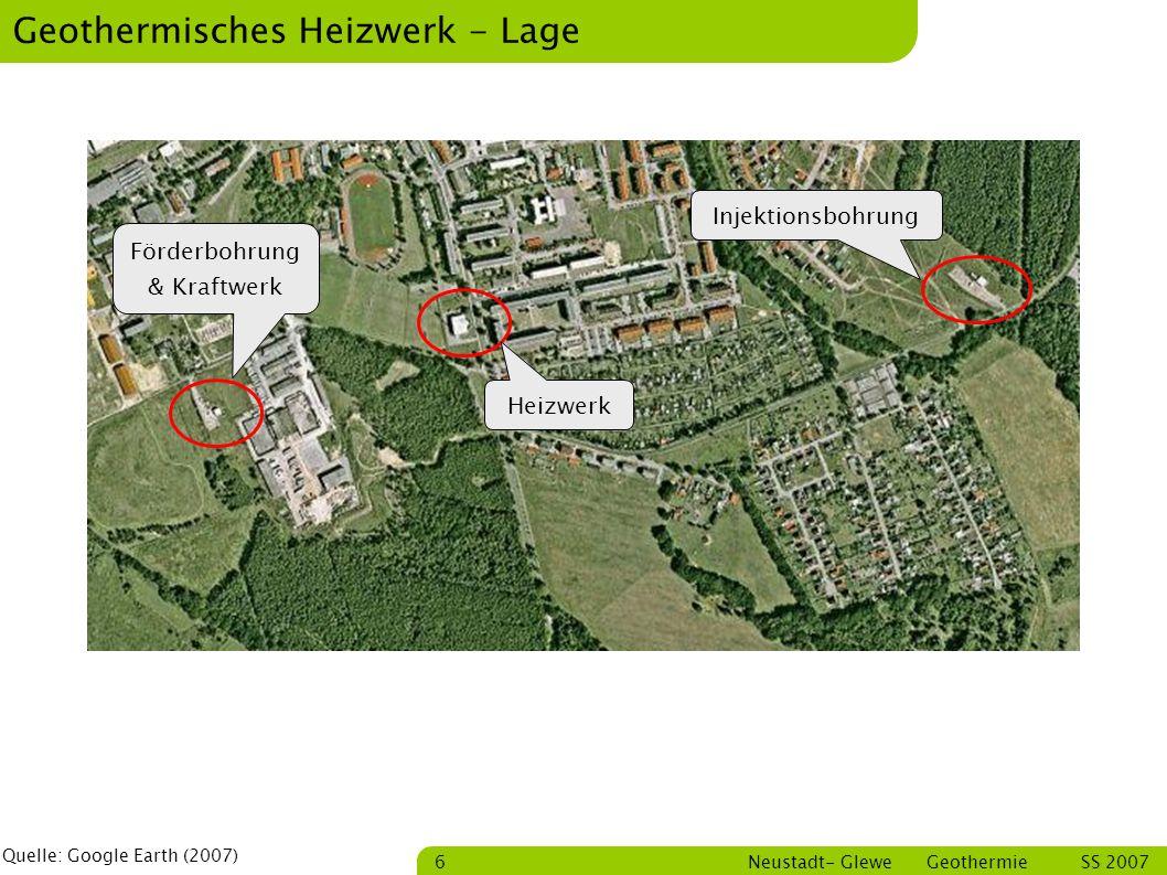 Geothermisches Heizwerk - Lage