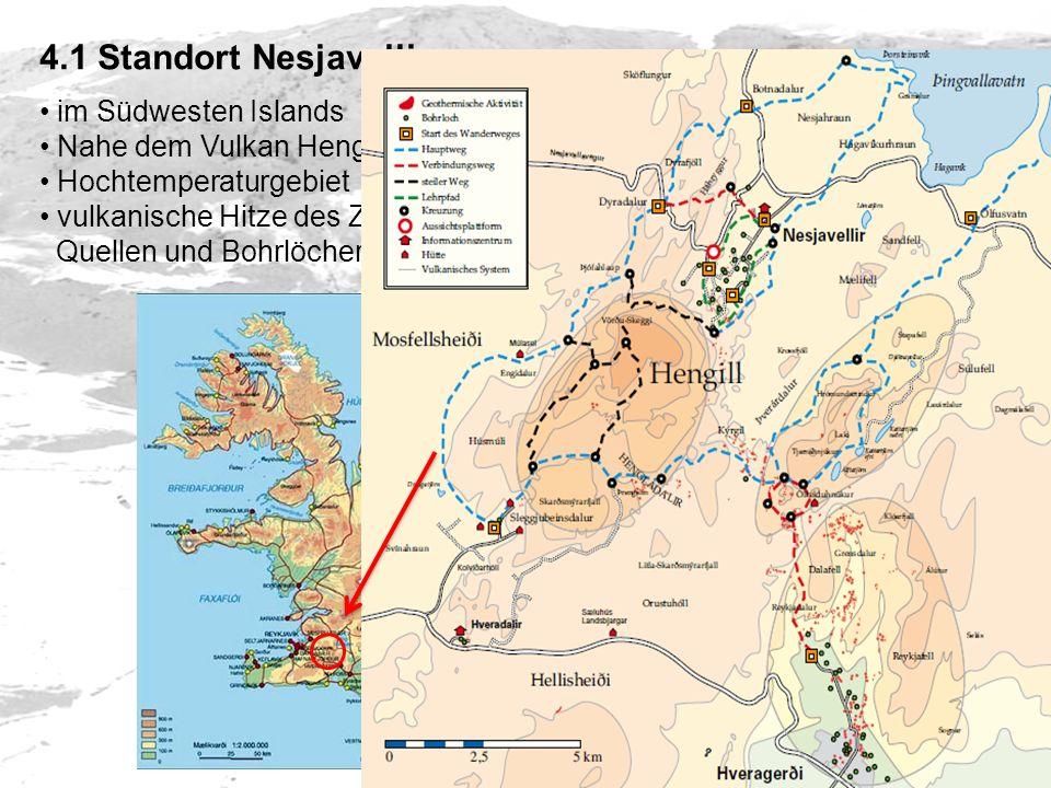 4.1 Standort Nesjavellir im Südwesten Islands Nahe dem Vulkan Hengill