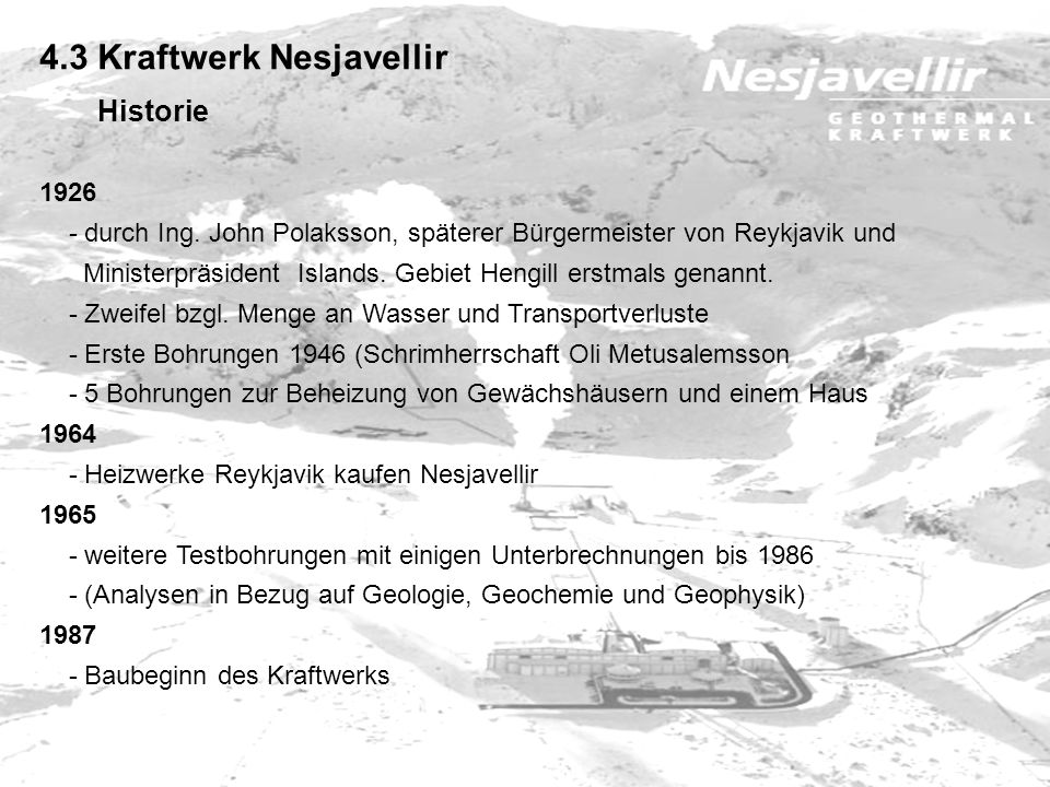 4.3 Kraftwerk Nesjavellir