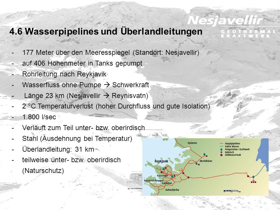 4.6 Wasserpipelines und Überlandleitungen