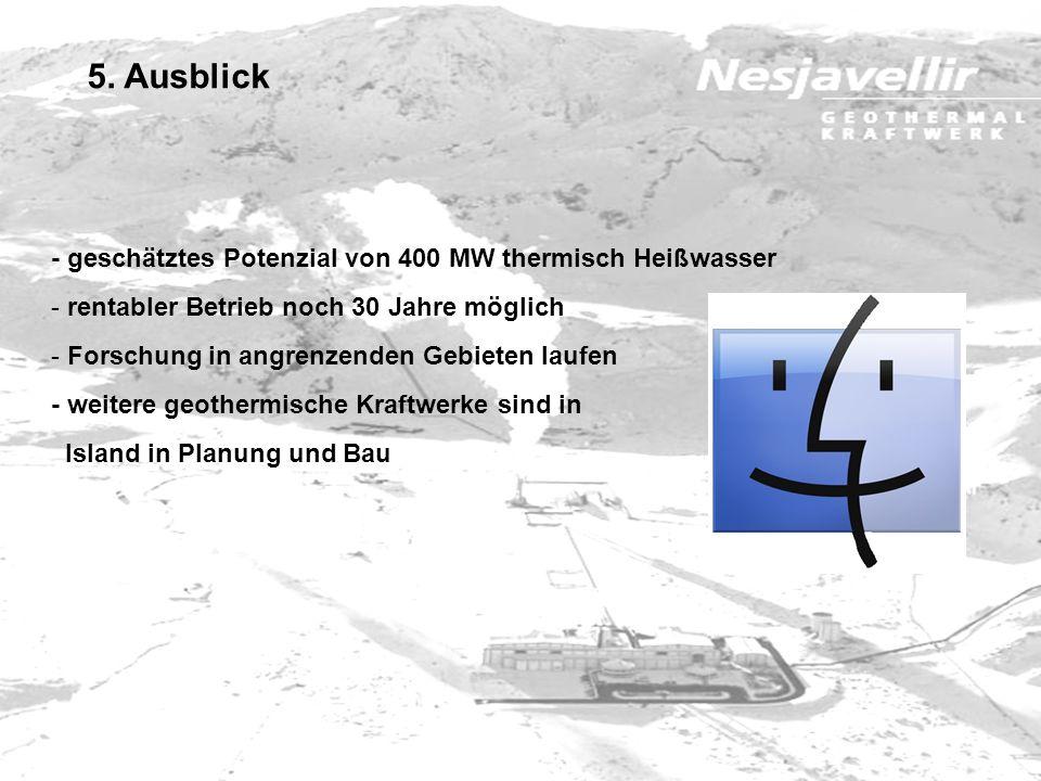 5. Ausblick - geschätztes Potenzial von 400 MW thermisch Heißwasser