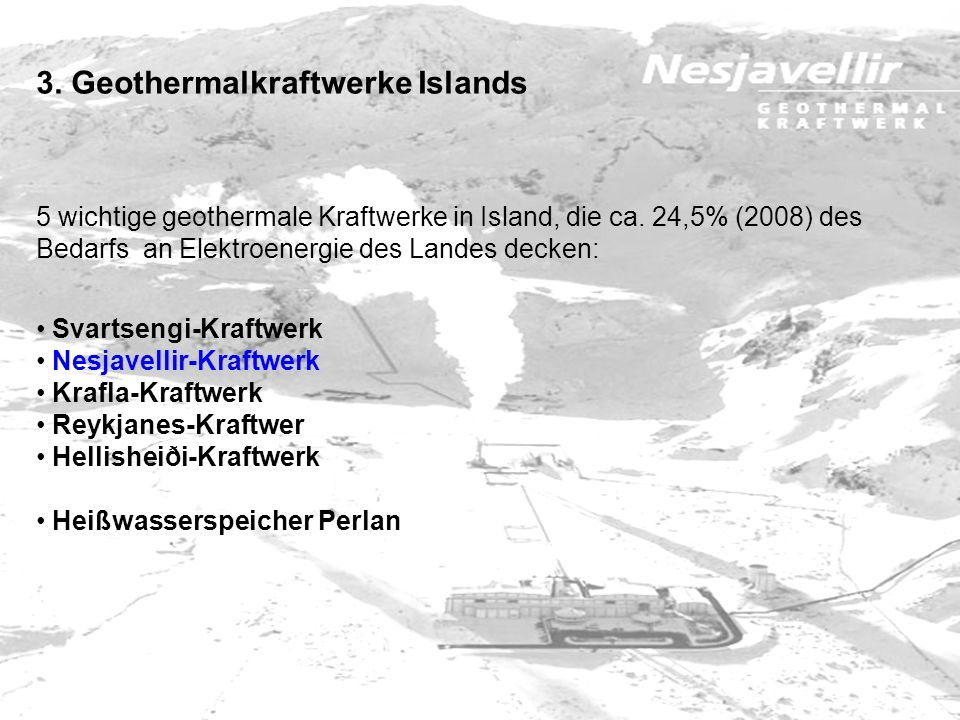 3. Geothermalkraftwerke Islands