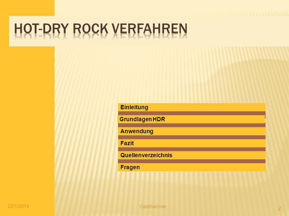 Hot-Dry Rock Verfahren