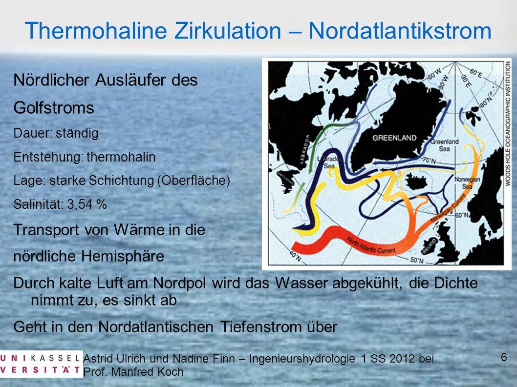 Thermohaline Zirkulation – Nordatlantikstrom