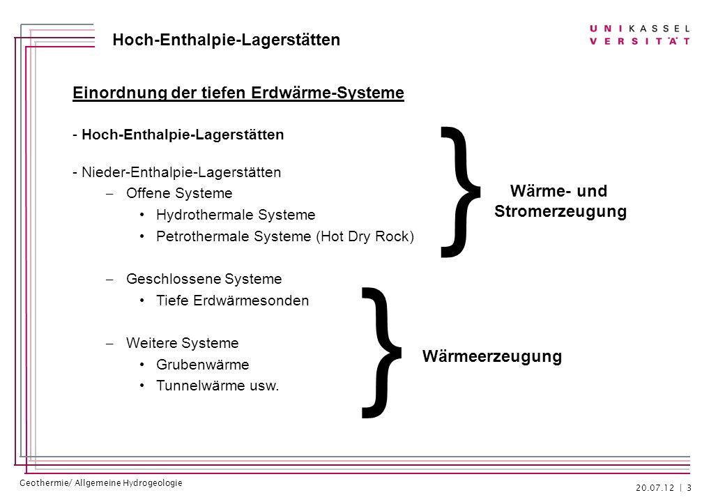 } } Einordnung der tiefen Erdwärme-Systeme Wärme- und Stromerzeugung