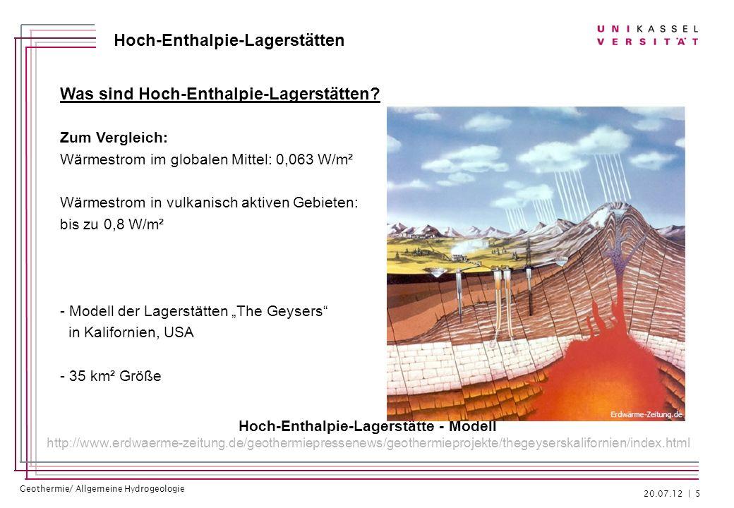 Hoch-Enthalpie-Lagerstätte - Modell