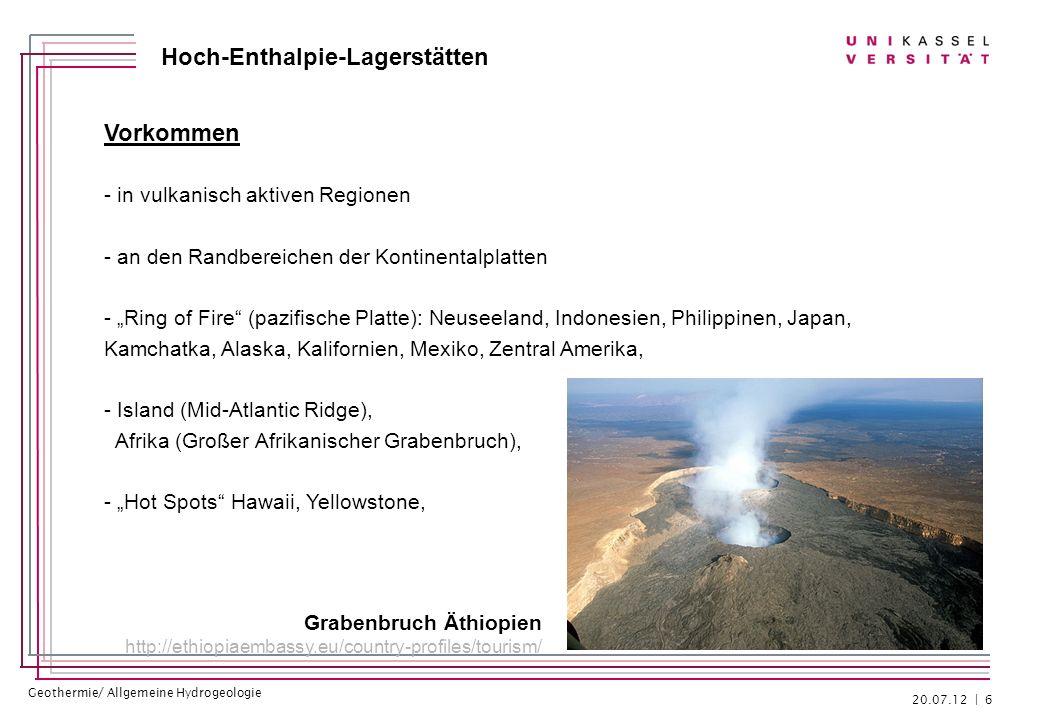 Vorkommen - in vulkanisch aktiven Regionen