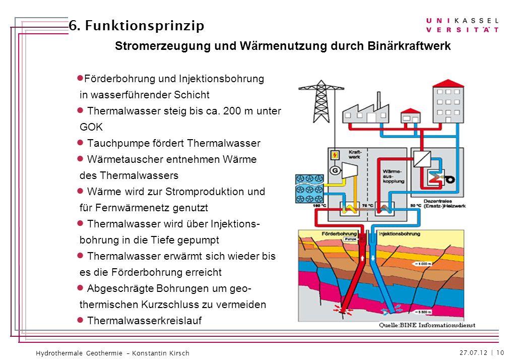 Stromerzeugung und Wärmenutzung durch Binärkraftwerk