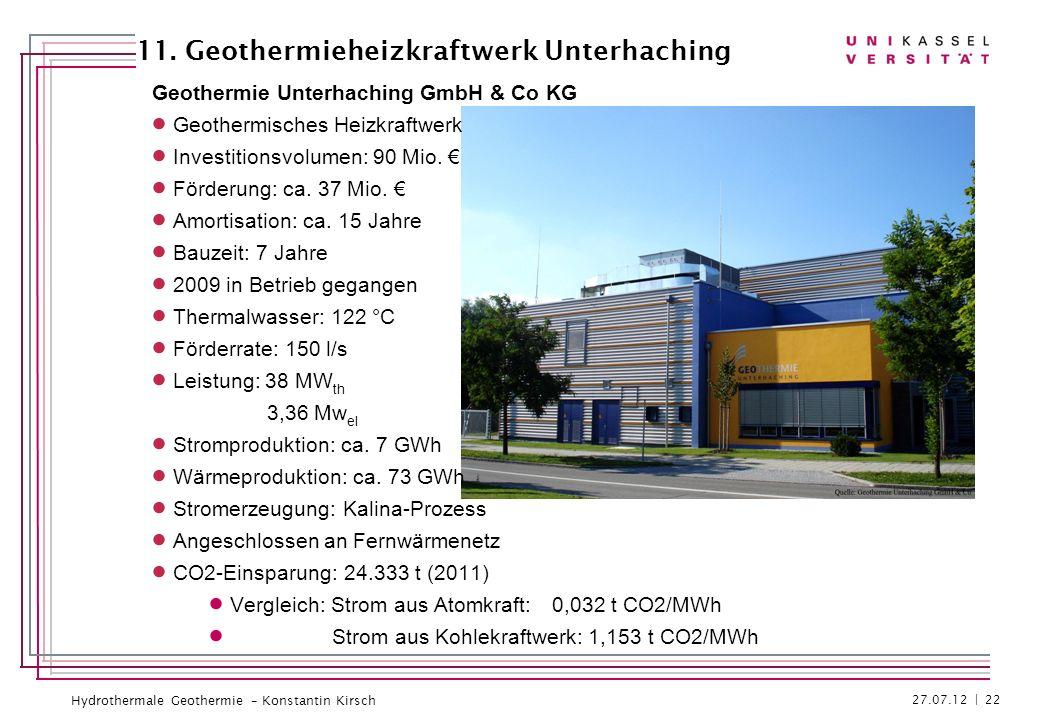 11. Geothermieheizkraftwerk Unterhaching