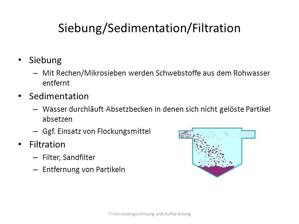Siebung/Sedimentation/Filtration