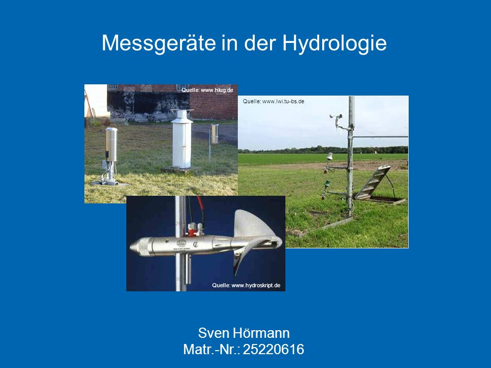 Messgeräte in der Hydrologie