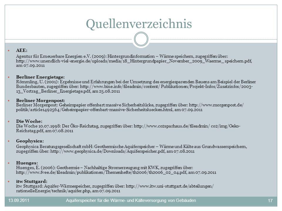 Quellenverzeichnis AEE: