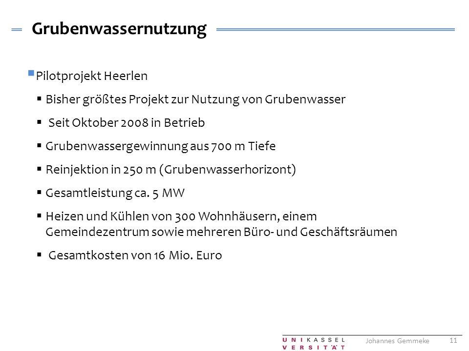Grubenwassernutzung Pilotprojekt Heerlen