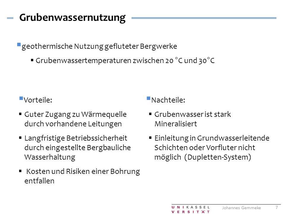 Grubenwassernutzung geothermische Nutzung gefluteter Bergwerke