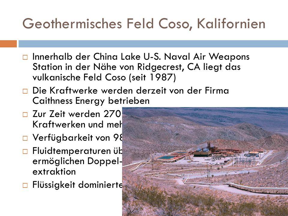 Geothermisches Feld Coso, Kalifornien
