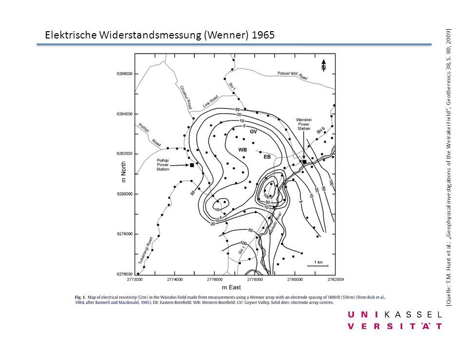 Elektrische Widerstandsmessung (Wenner) 1965