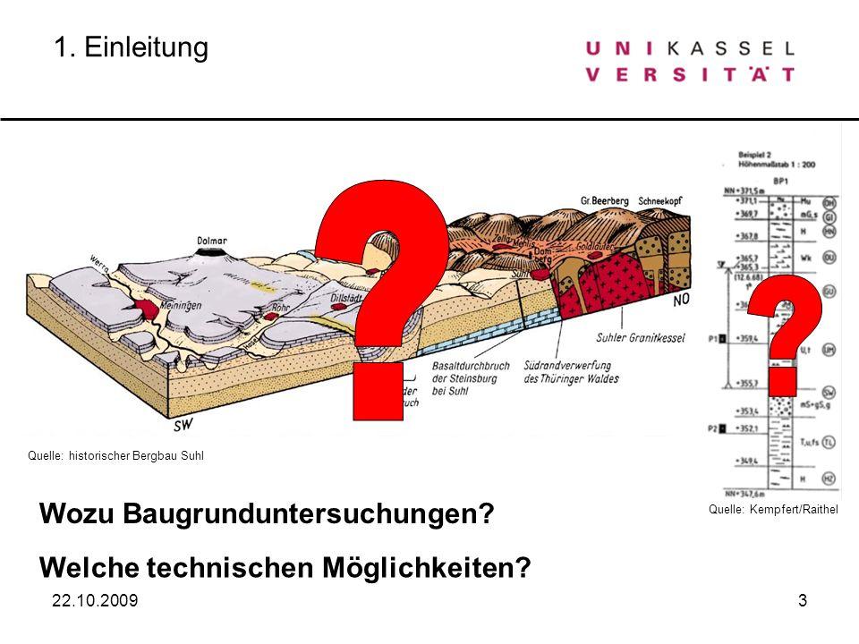 1. Einleitung Wozu Baugrunduntersuchungen