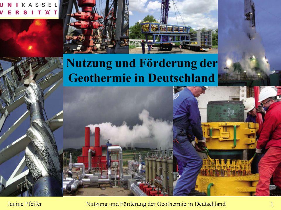 Nutzung und Förderung der Geothermie in Deutschland