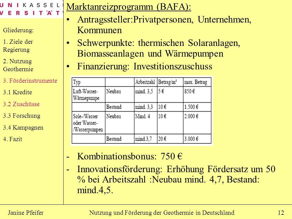Marktanreizprogramm (BAFA):