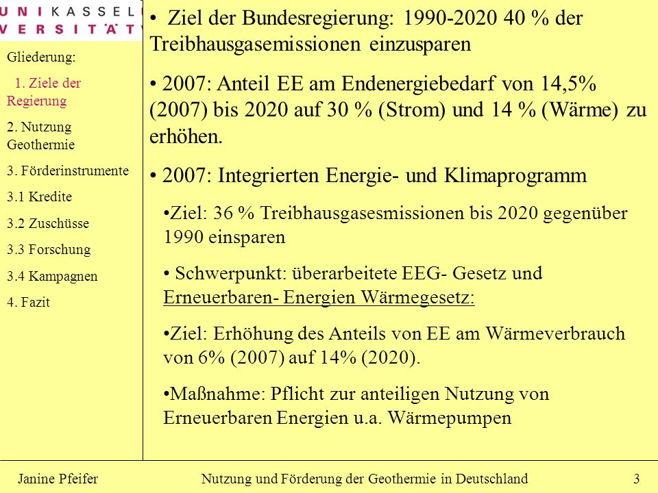 2007: Integrierten Energie- und Klimaprogramm
