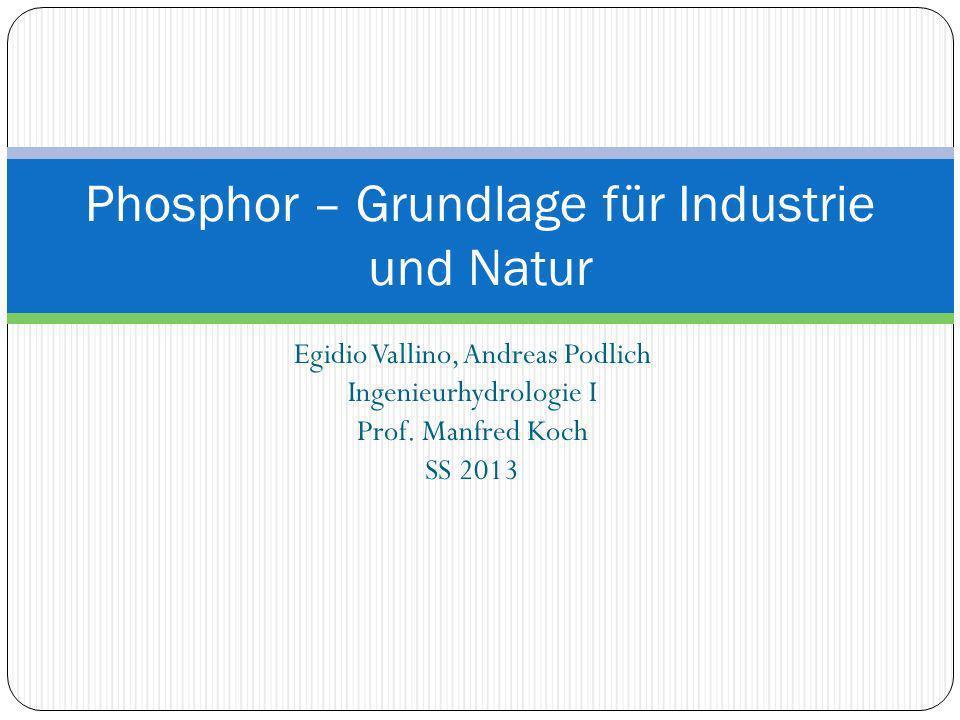 Phosphor – Grundlage für Industrie und Natur