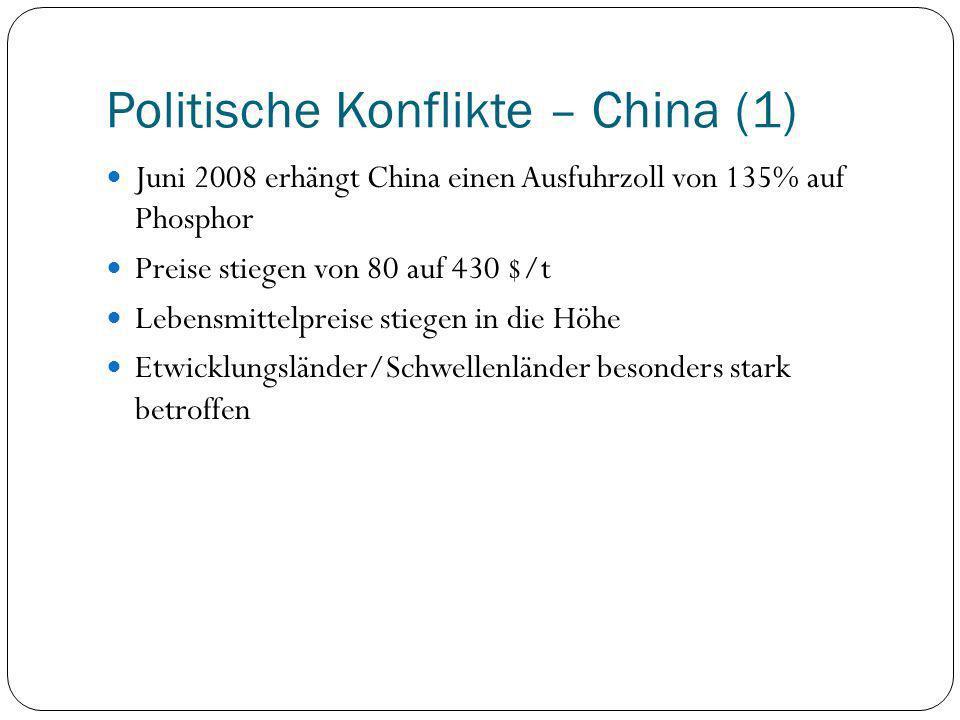 Politische Konflikte – China (1)