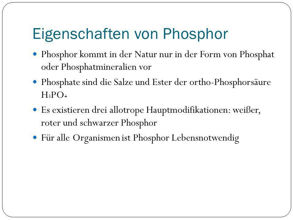 Eigenschaften von Phosphor