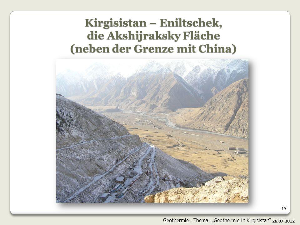 Kirgisistan – Eniltschek, die Akshijraksky Fläche (neben der Grenze mit China)